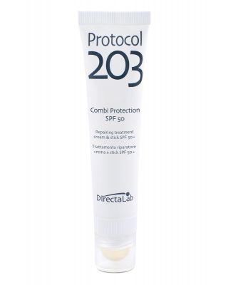 Protocol 203 Combi Protection - Trattamento riparatore crema SPF 50 e stick spf 50+